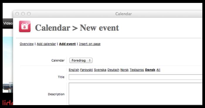 Features - Calendar