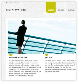 Opret en gratis hjemmeside