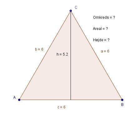 omkreds af en trekant
